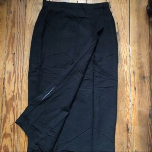 Vintage NY&CO wrap skirt black size 12